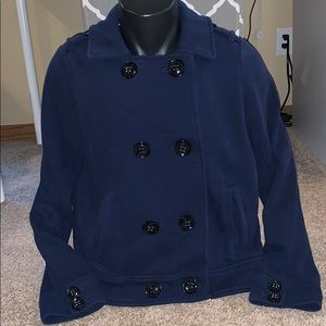 American Eagle fleece button up pea coat